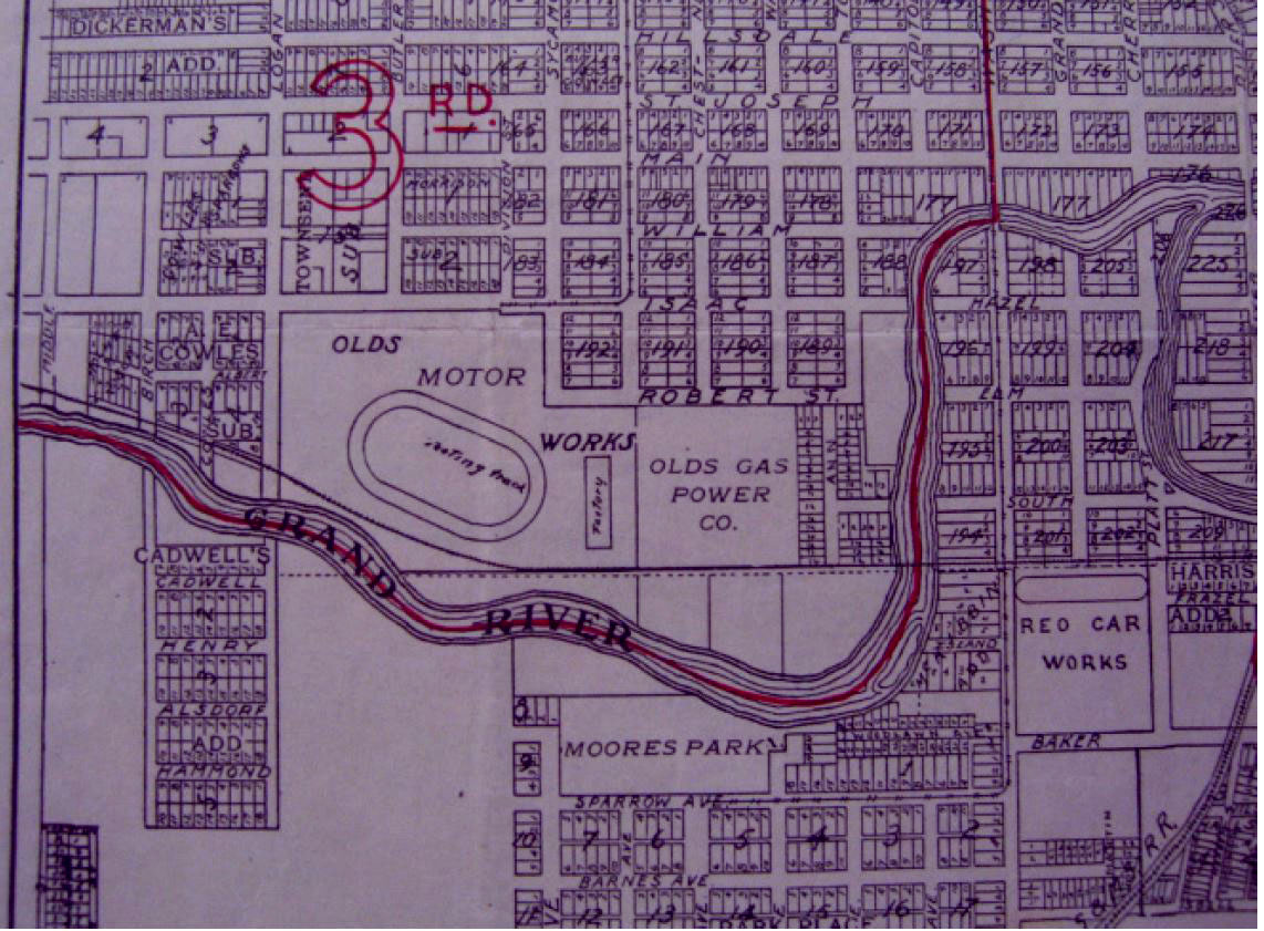 1904 Olds Motor Works Map