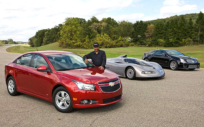 Ed Welburn responsible for design and development of the Aerotech, Chevy Cruze, Cadillac CTS, and other GM cars including the upcoming Chevy Sonic