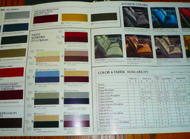 olds brochure colors