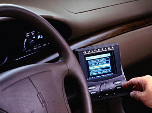 Oldsmobile Guidestar Mounted on 1996 Olds 88 model dash